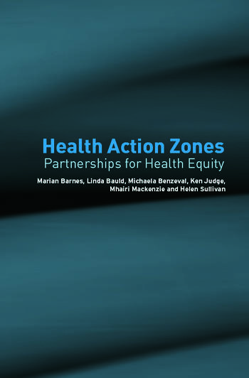 Health Action Zones Partnerships for Health Equity book cover