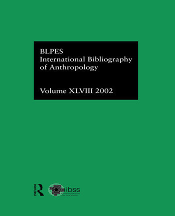 IBSS: Anthropology: 2002 Vol.48 book cover