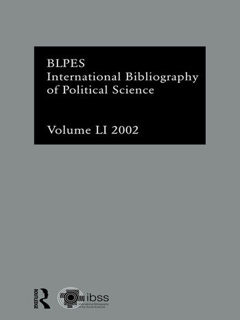 IBSS: Political Science: 2002 Vol.51 book cover