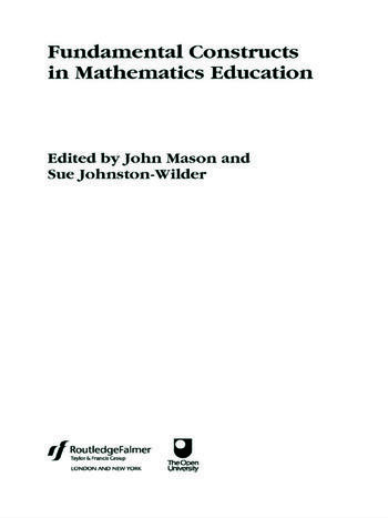 Fundamental Constructs in Mathematics Education book cover