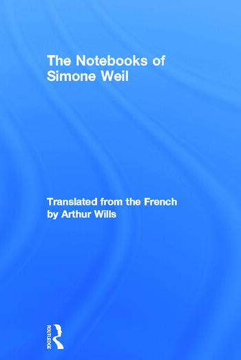 The Notebooks of Simone Weil book cover
