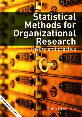 Statistical Methods for Organizational Research Theory and Practice book cover
