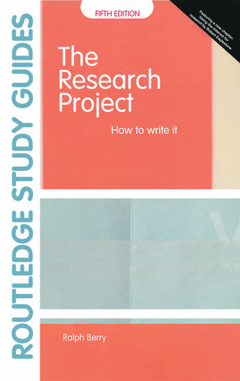 The Research Project How to Write It, Edition 5 book cover