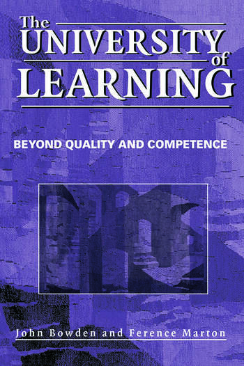 The University of Learning Beyond Quality and Competence book cover