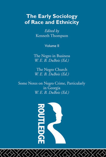 The Early Sociology of Race & Ethnicity Vol 2 book cover