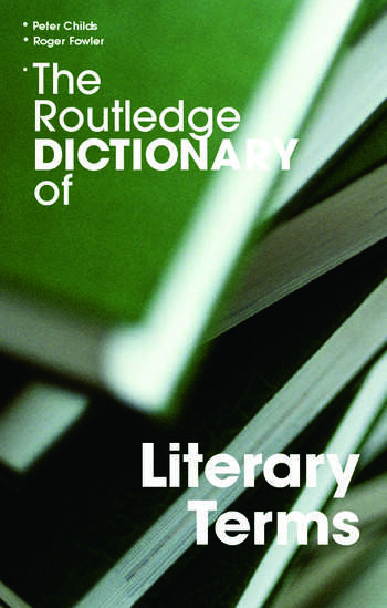 The Routledge Dictionary of Literary Terms book cover