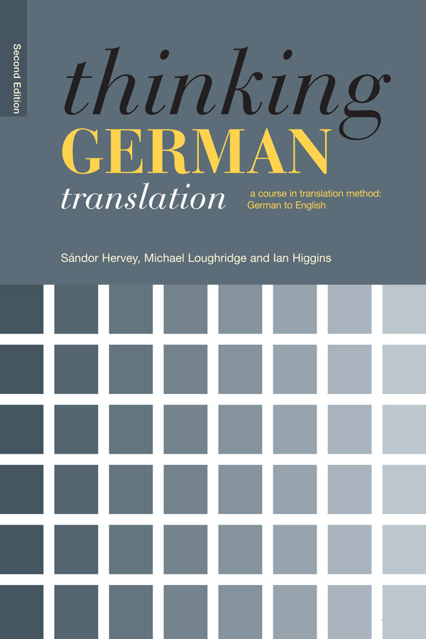 Thinking German Translation book cover
