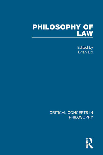 Philosophy of Law book cover