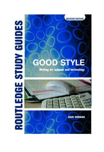 Good Style Writing for Science and Technology book cover