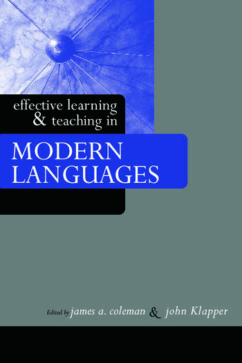 Effective Learning and Teaching in Modern Languages book cover