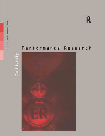 Performance Research 9:4 Dec 2 book cover