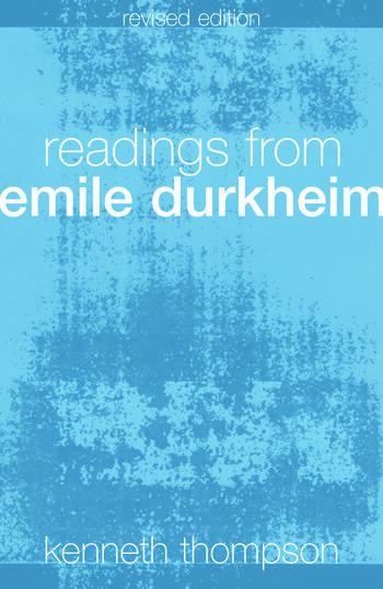 Readings from Emile Durkheim book cover