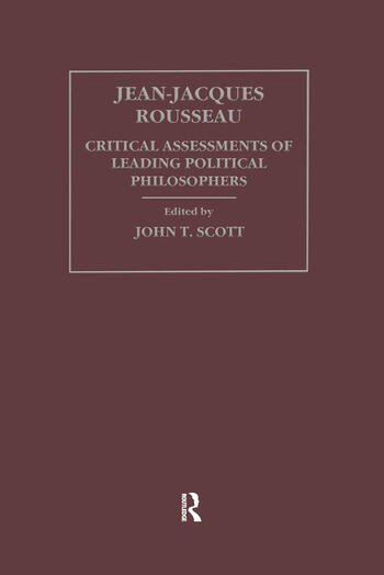 Jean-Jacques Rousseau book cover