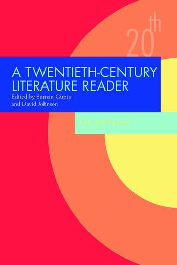 A Twentieth-Century Literature Reader Texts and Debates book cover