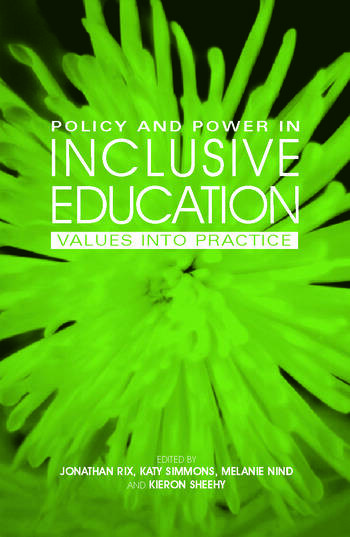 Policy and Power in Inclusive Education Values into practice book cover