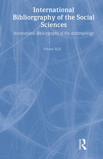 IBSS: Anthropology: 2003 Vol.49 book cover