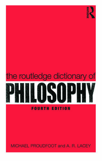 The Routledge Dictionary of Philosophy book cover