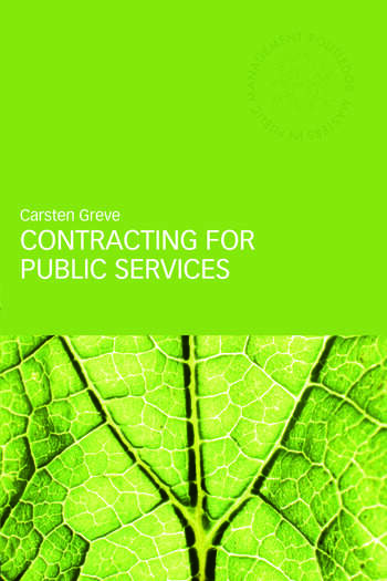 Contracting for Public Services book cover