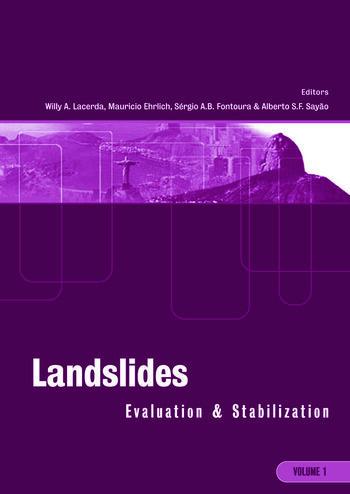 Landslides: Evaluation and Stabilization/Glissement de Terrain: Evaluation et Stabilisation, Set of 2 Volumes Proceedings of the Ninth International Symposium on Landslides, June 28 -July 2, 2004 Rio de Janeiro, Brazil book cover