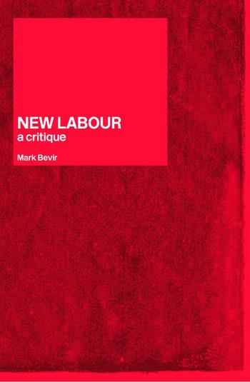 New Labour A Critique book cover