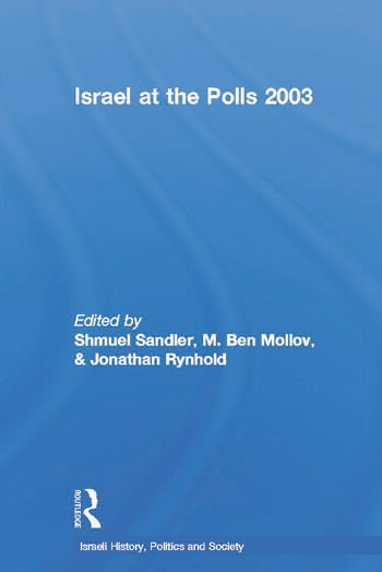 Israel at the Polls 2003 book cover