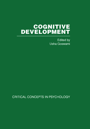 Cognitive Development Critical Concepts in Psychology book cover
