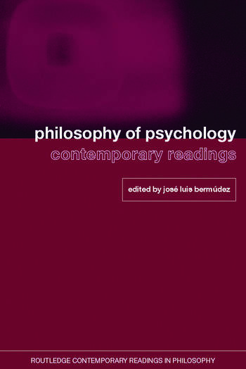 Philosophy of Psychology: Contemporary Readings book cover