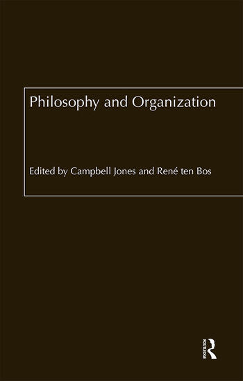 Philosophy and Organization book cover