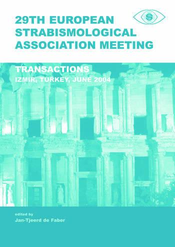 29th European Strabismological Association Meeting Transactions, Izmir, June 1-4, 2004 book cover