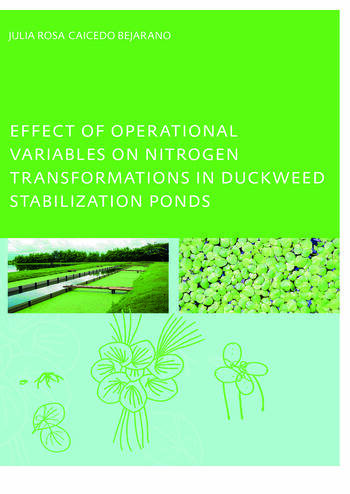 Effect of Operational Variables on Nitrogen Transformations in Duckweed Stabilization Ponds book cover