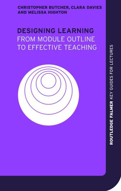 Designing Learning From Module Outline to Effective Teaching book cover