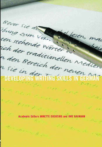 Developing Writing Skills in German book cover