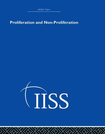 Proliferation and Non-Proliferation book cover