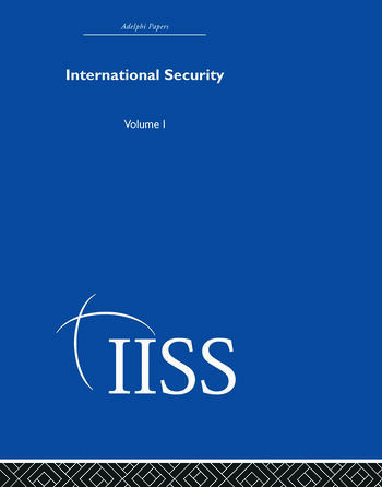 International Security Volume 1 book cover