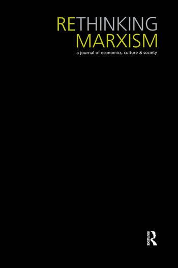Rethinking Marxism 18.1 book cover
