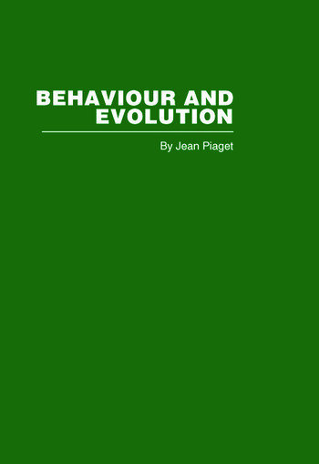 Behaviour and Evolution book cover