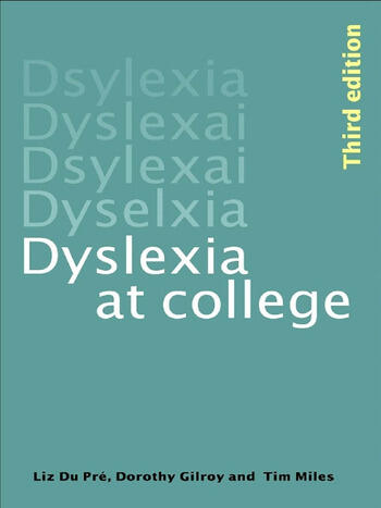Dyslexia at College book cover