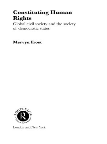 Constituting Human Rights Global Civil Society and the Society of Democratic States book cover