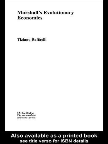 Marshall's Evolutionary Economics book cover