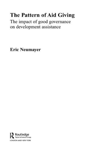 The Pattern of Aid Giving The Impact of Good Governance on Development Assistance book cover
