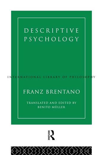 Descriptive Psychology book cover