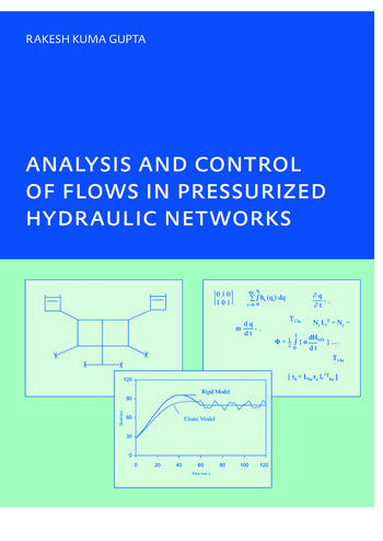 Analysis and Control of Flows in Pressurized Hydraulic Networks PhD, UNESCO-IHE Institute, Delft book cover