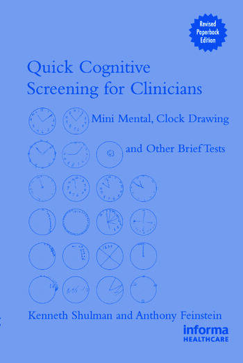 Quick Cognitive Screening for Clinicians Clock-drawing and Other Brief Tests book cover
