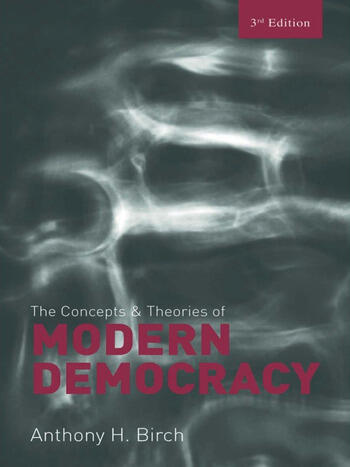 Concepts and Theories of Modern Democracy book cover
