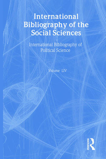 IBSS: Political Science: 2005 Vol.54 International Bibliography of the Social Sciences book cover