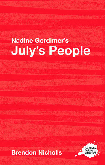 Nadine Gordimer's July's People A Routledge Study Guide book cover