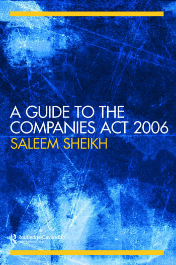 A Guide to The Companies Act 2006 book cover