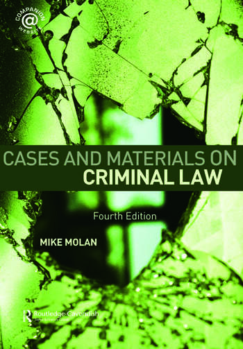 Cases & Materials on Criminal Law Fourth Edition book cover