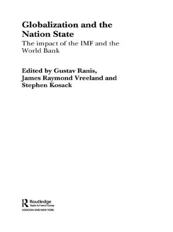 Globalization and the Nation State The Impact of the IMF and the World Bank book cover