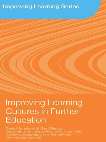 Improving Learning Cultures in Further Education book cover
